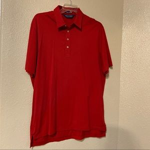 Ralph Lauren Polo Golf Red Polo Shirt Mens XL